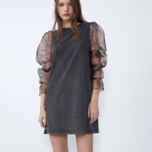 Zara contrasting organza dress